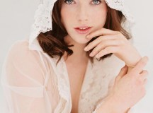 Amalfi Boudoir Hooded Tulle & French Lace Robe kimono ...