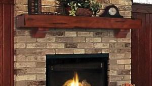 Pearl Mantels Shenandoah Rustic Wood Fireplace Mantel