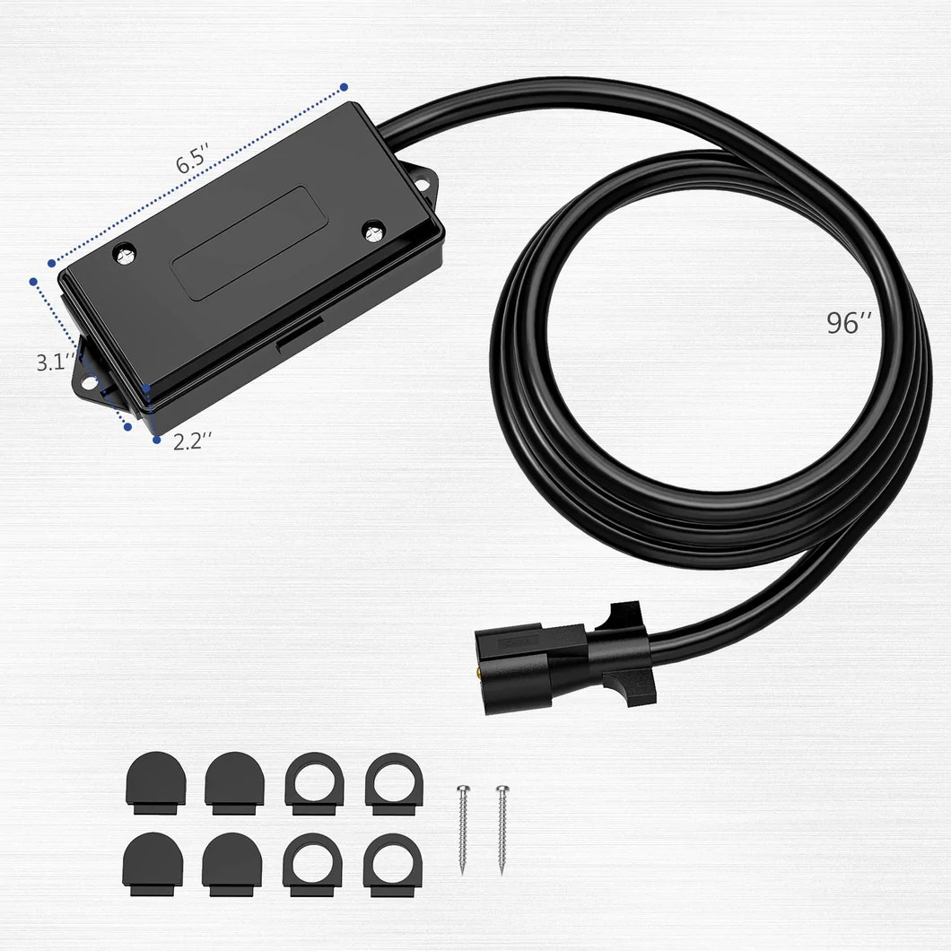 hight resolution of kohree 7 way trailer plug cord with 7 gang waterproof junction box trailer connector cable