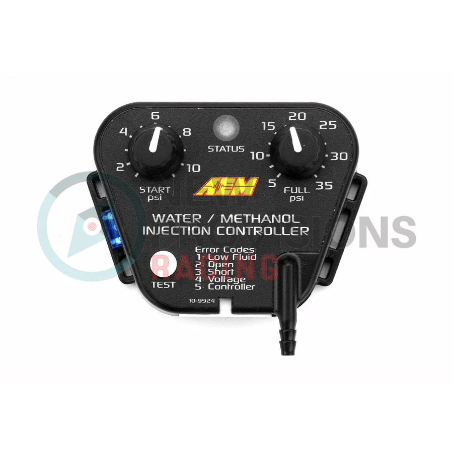 small resolution of aem v2 water methanol injection kit with 1 gallon tank universal