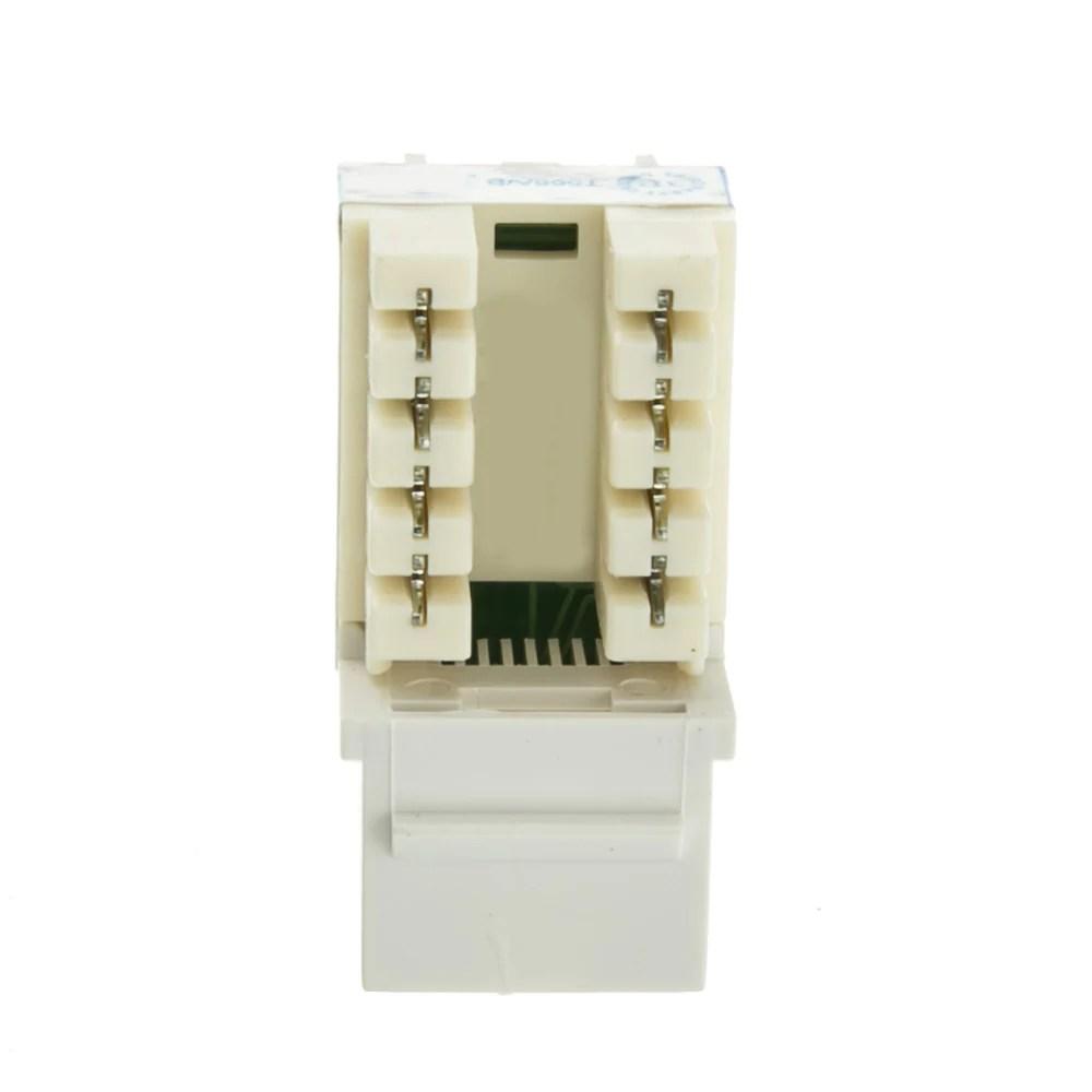 medium resolution of  axgear cat6 keystone 110 punch down rj45 network ethernet wall jack 8p8c