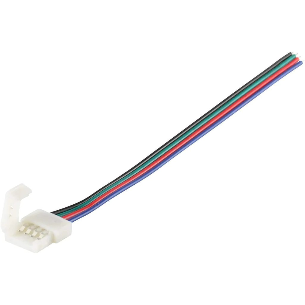 medium resolution of single end led strip connector for ip30 5050 led rgb color strip light ablelin store fixtures corp