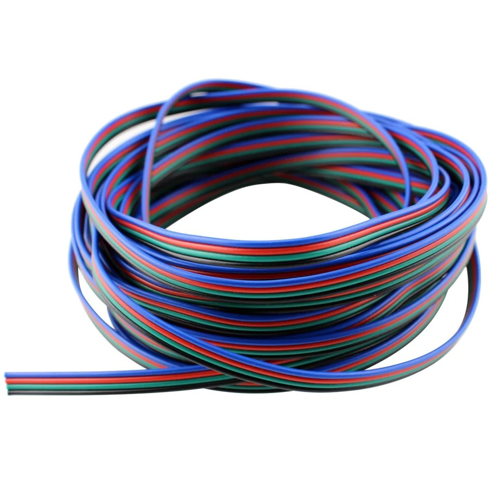 4 color rgb extension cable line for led strip rgb 5050 3528 cord c ablelin store fixtures corp  [ 1024 x 1024 Pixel ]