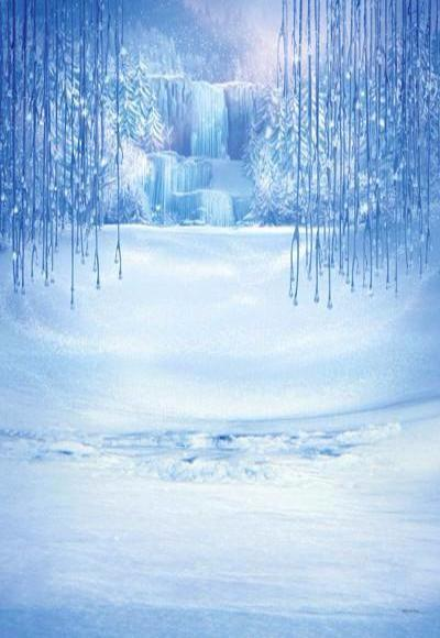 Katebackdrop:Kate Winter Snow Disney Frozen Backdrop Snow Christmas Backdrop
