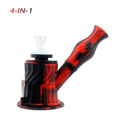 Waxmaid 4-IN-1 Silicone Glass Water Pipe-Waxmaid 3 in 1 water pipe