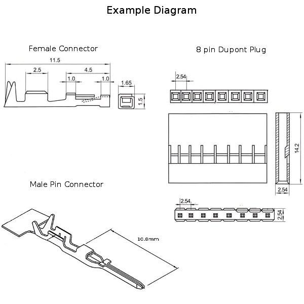DuPont 254mm Plugs 1 2 3 4 5 6 7 8 9 10 Male Female