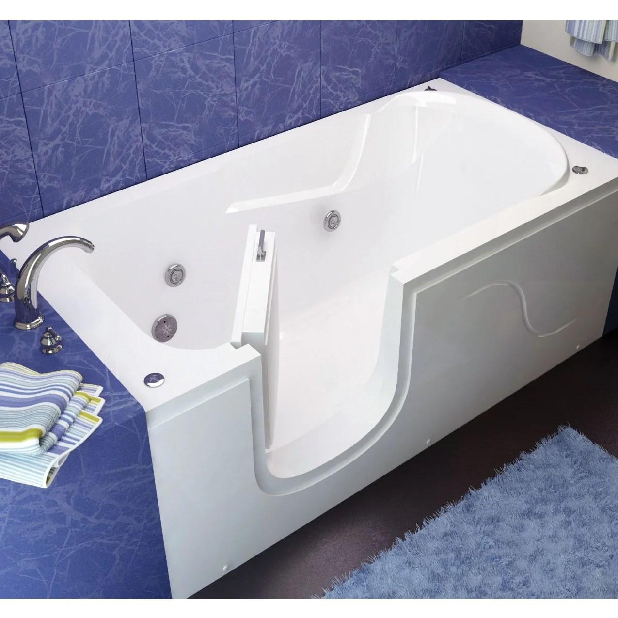 MediTub 3060SI Series StepIn 30 x 60 Acrylic Fiberglass WalkIn Batht  Luxury Freestanding Tubs