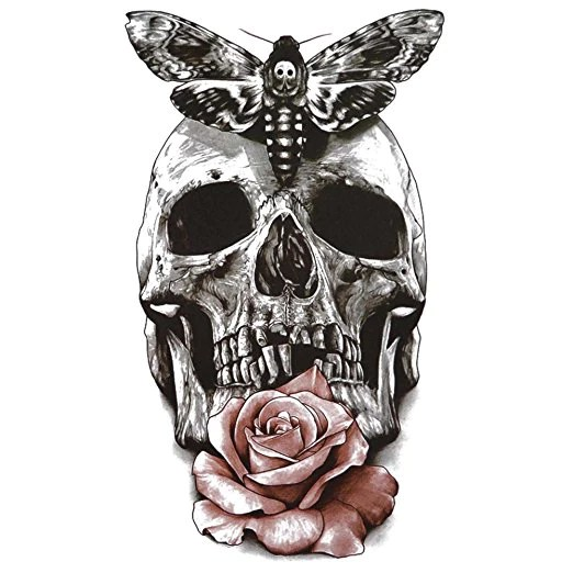 Tattoo Skull Rose