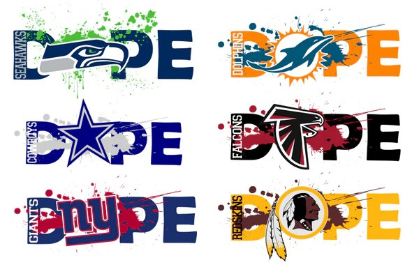 Download NFL Football DOPE BUNDLE 32 TEAMS SVG PNG Digital Design ...