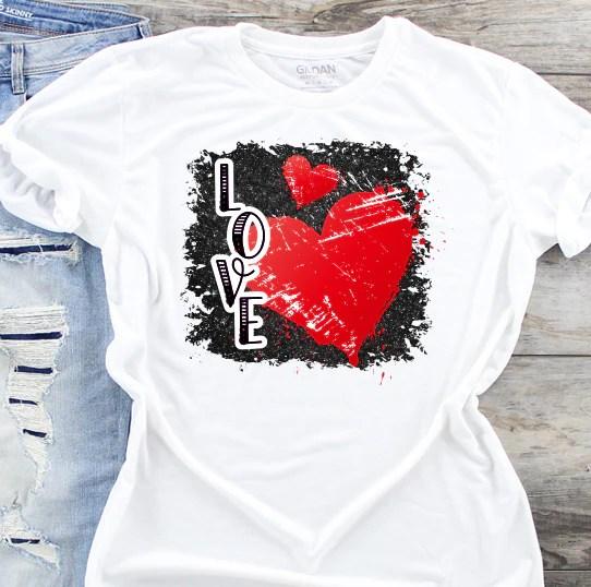 Download Love Heart Sublimation Transfer - The SVG Corner
