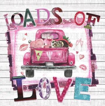 Download Loads of Love Vintage Truck Valentines Day Sublimation ...