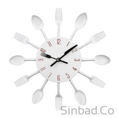 Kitchen Fork Black Stools Colorful Knife Spoon Clock Sinbadco