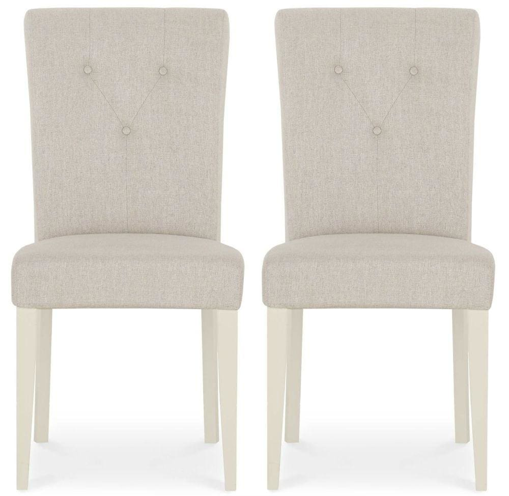 Antique White Dining Chairs Montreux Antique White Dining Chair Upholstered Fabric Pair