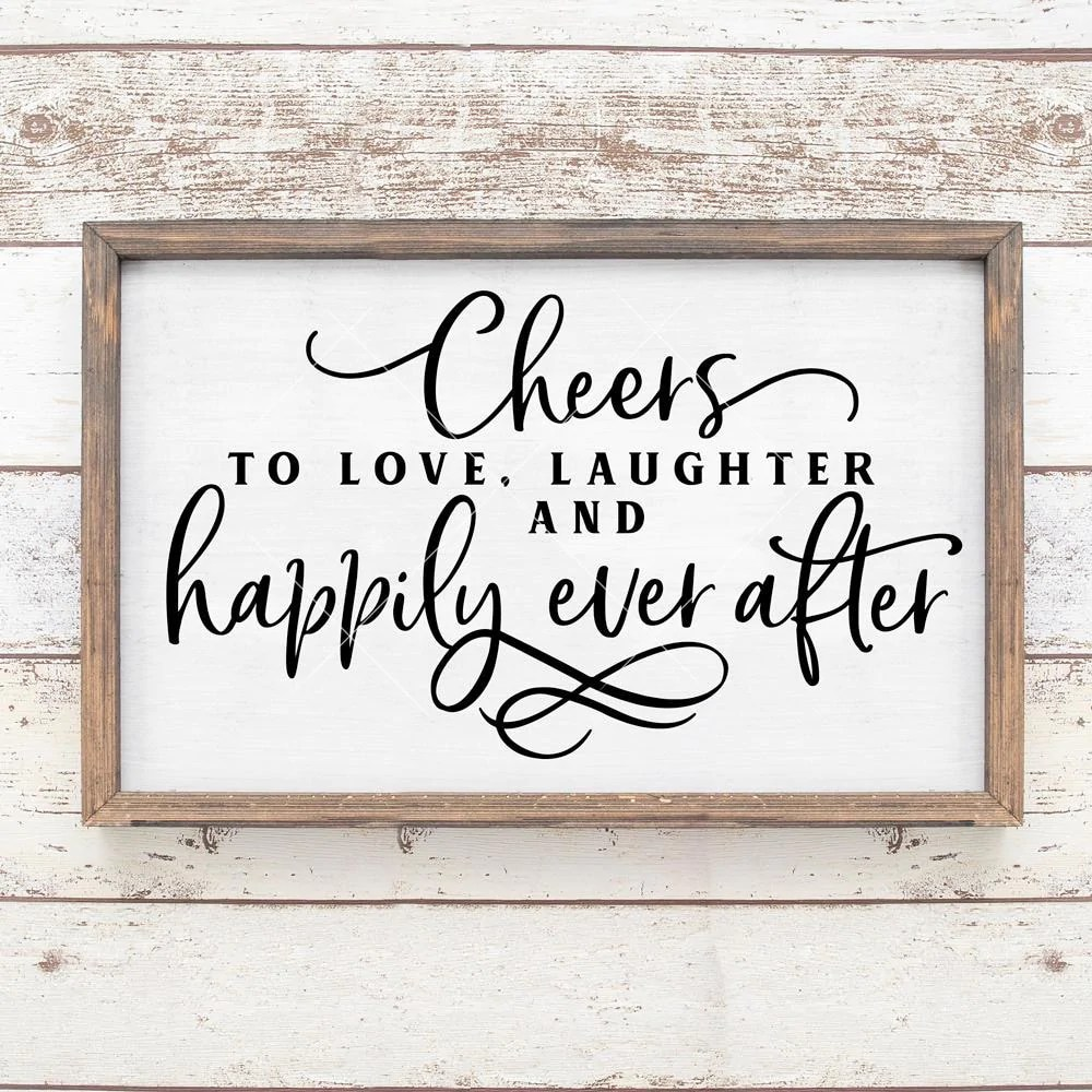 Download Cheers to love, laughter and happily ever after Wedding ...