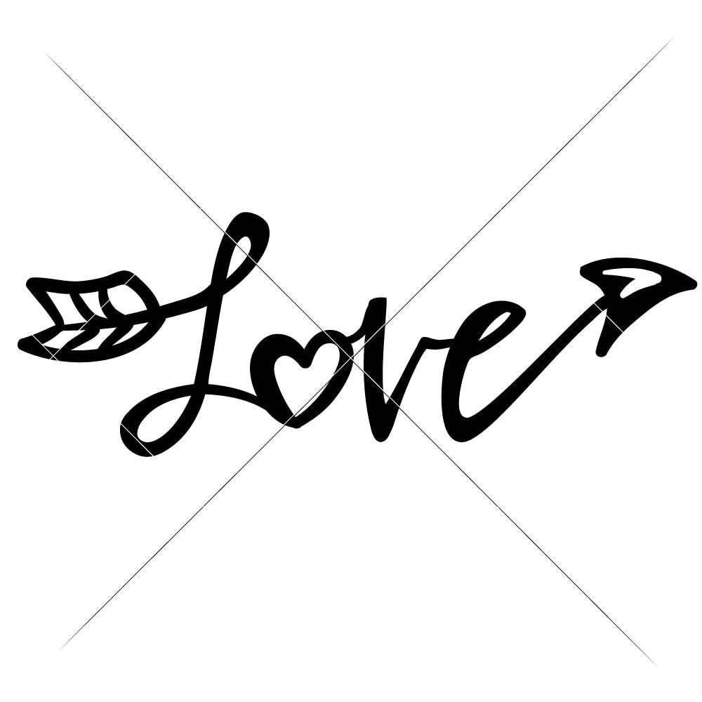 Download Love Arrow with Heart svg png dxf eps | Chameleon ...