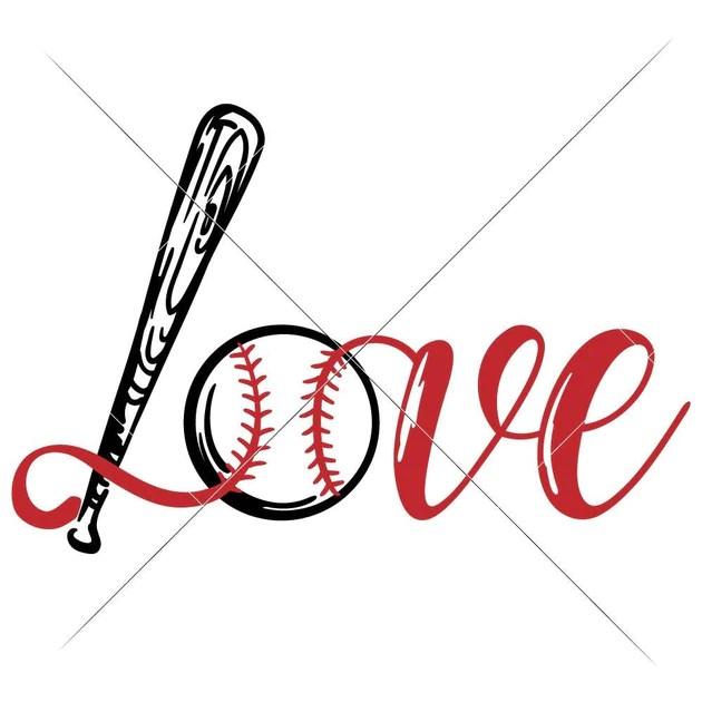 Download Love Baseball Bat Ball svg png dxf eps   Chameleon ...