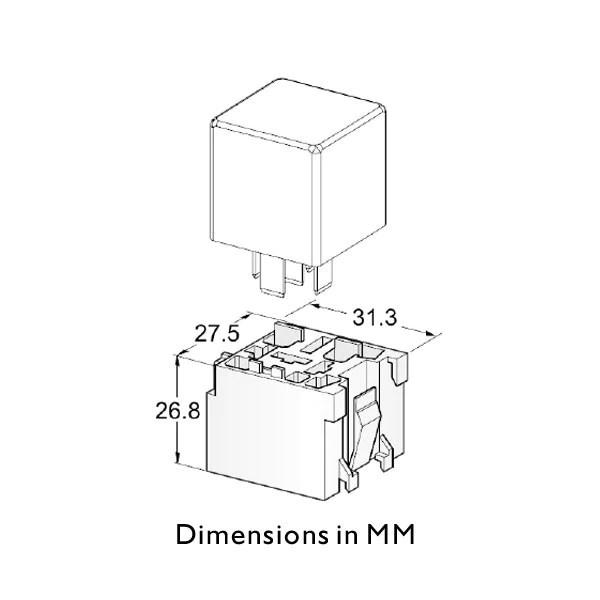 12 volt mini fuse box