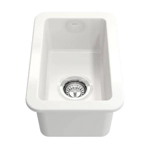 bocchi sotto 12 white fireclay single bowl undermount prep sink