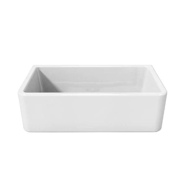 latoscana lfs3318w white 33 fireclay farmhouse sink smooth or fluted