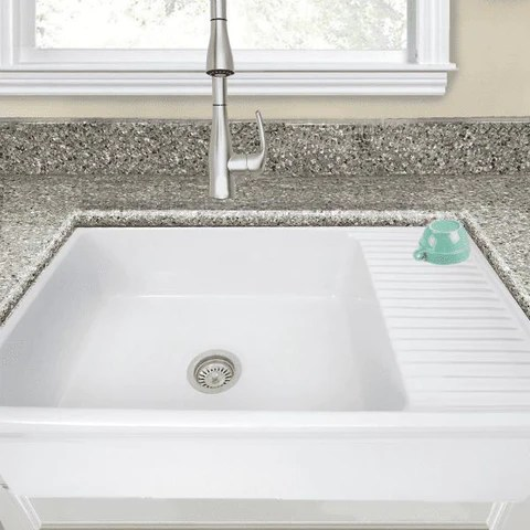 farmhouse sink with drainboard deal