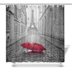 Mordern And Coutry Themed Shower Curtains Print Eiffel Tower View From Zenzzle