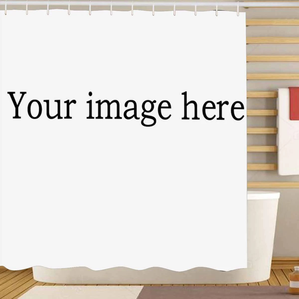 custom shower curtains upload your image to customize