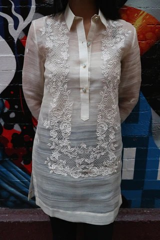 Example Of A Dress Length Contemporary Fit Barong