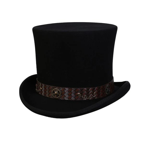 Mad Hatter Steampunk Top Hat  Conner Hats