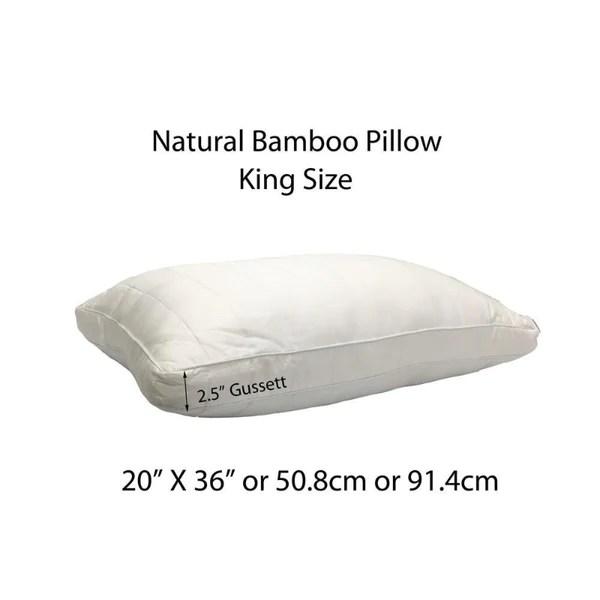 natural bamboo pillow down under bedding