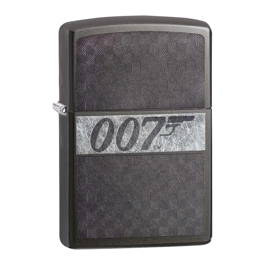 James Bond Zippo Lighter 007 Logo Grey