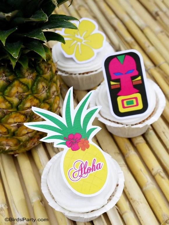 Tikki Luau Birthday Party Printables Supplies