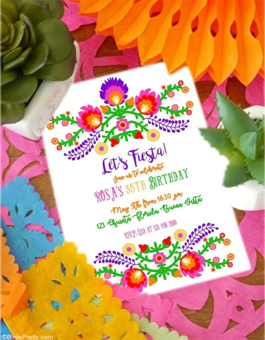 mexican fiesta party printable invitations