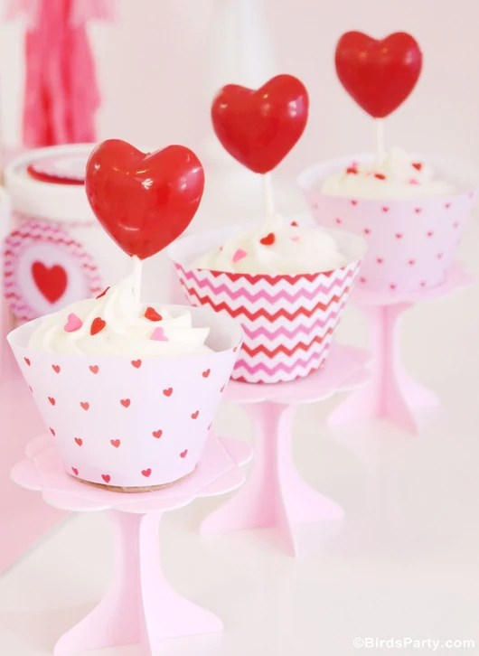 Valentine's Day Hearts Party Printables Supplies
