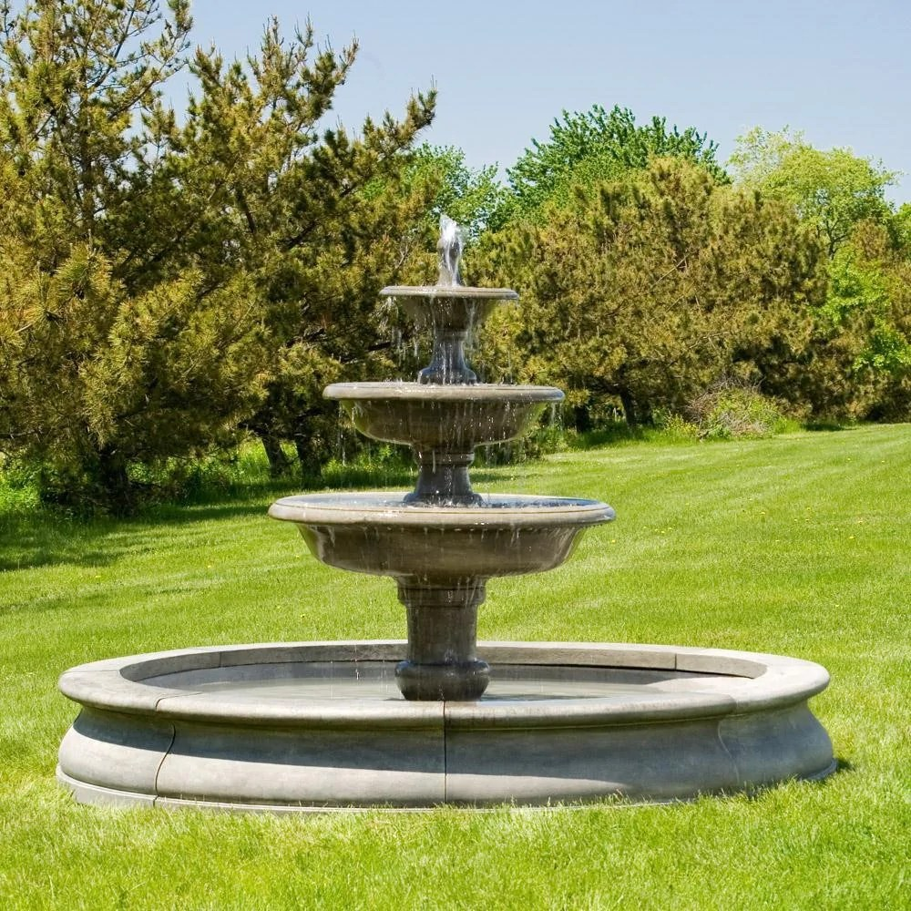 Newport Garden Outdoor Water Fountain With Basin