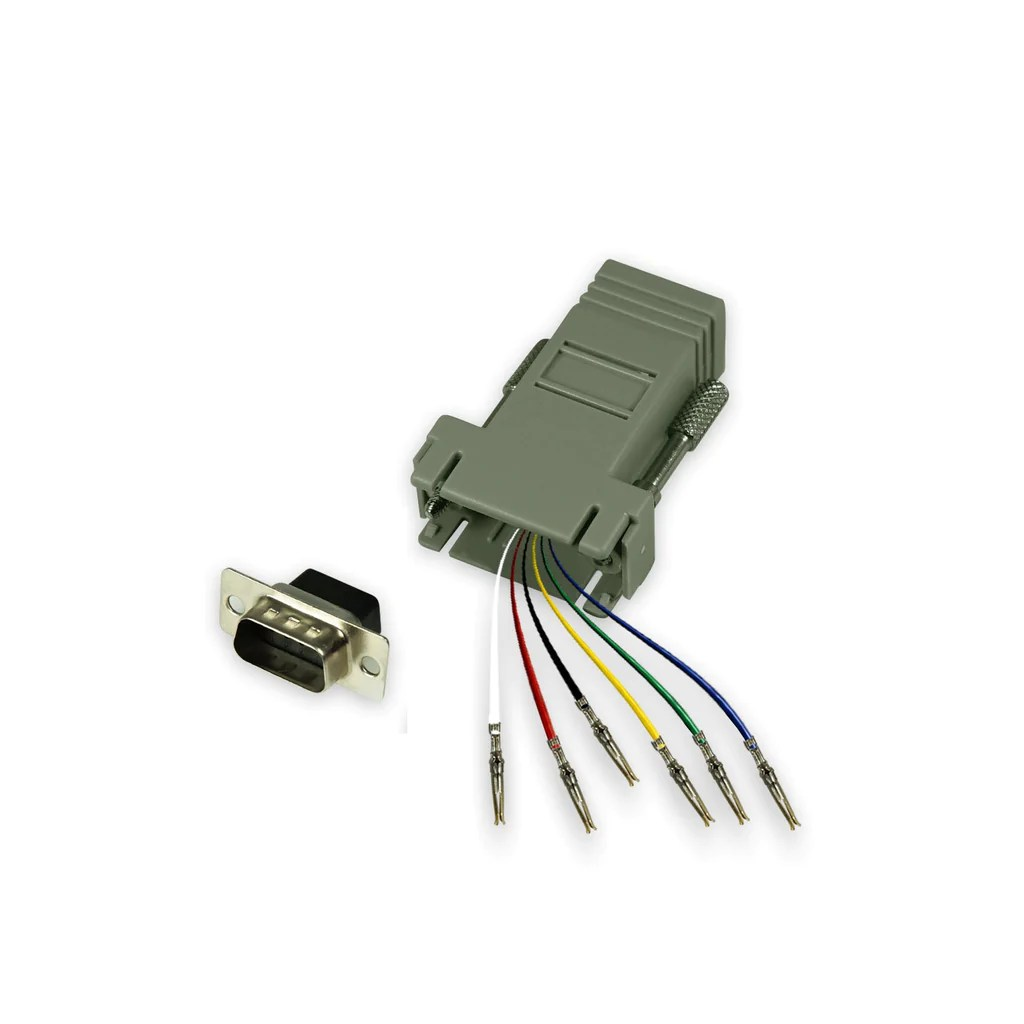 hight resolution of modular adapter kit db9 male to rj12 female 6 conductor grandmax com