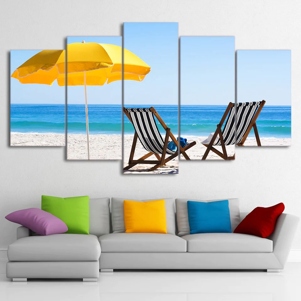Beach Chairs With Umbrella Limited Edition 5 Piece Beach Chairs And Umbrella Canvas
