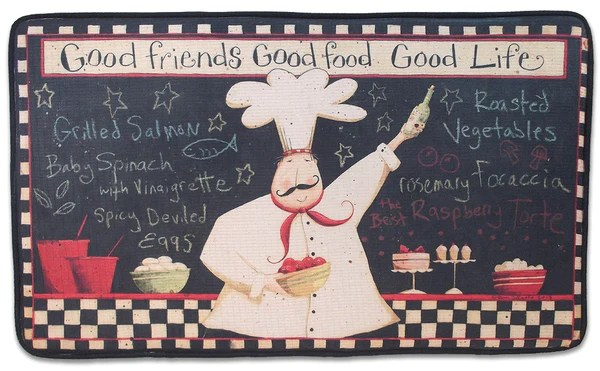 braided kitchen rugs small appliances memory foam rug (fat chef), bistro decor cushion ...
