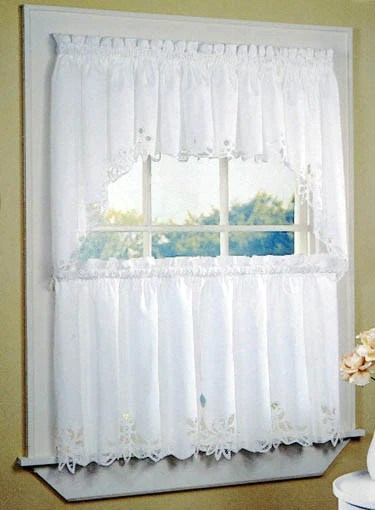 Battenburg Lace Window Curtains  Country Swag And 24 Tiers  Scarbrough Faire
