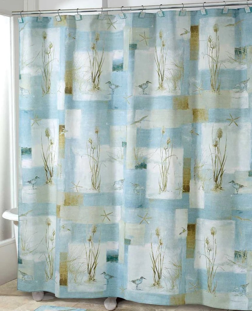 Blue Waters Bath Set 5 pc Coastal Nautical Decor Shower Curtain ON SAL  Scarbrough Faire