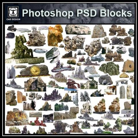 Landscape Stone PSD Blocks