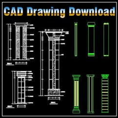 Theater Chair Cad Block Yellow Patio Chairs Column Design Drawing – | Free Blocks,drawings,details