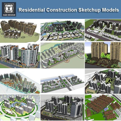 【Download 25 Residential Construction Sketchup 3D Models】 (Recommanded!!)