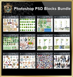 Over 1000 Photoshop PSD Blocks Bundle