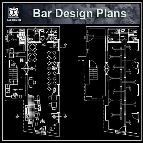 Bar blocks and plans  CAD Design  Free CAD Blocks