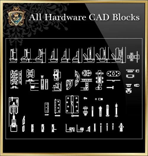 Autocad Kitchen Cabinet Blocks: Cabinet Hardware Cad Blocks