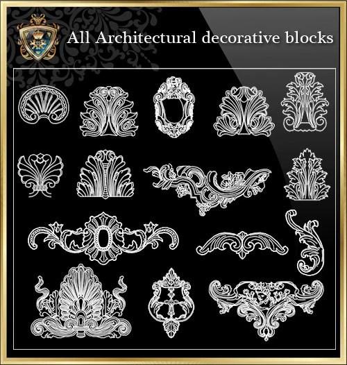 All Architectural Decorative Blocks V10 CAD Design