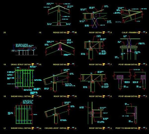 Construction Details 2  CAD Design  Free CAD BlocksDrawingsDetails