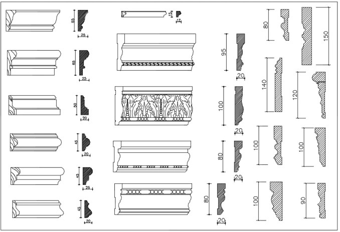 Over 1200+ Decorative Elements,Crown molding,Chair-rail,Door Trim,Skirting Board,Corner Post,Plain Molding