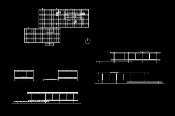 Farnsworth house  CAD Design  Free CAD BlocksDrawingsDetails