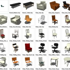 Chair Design Sketchup Chairs For Vanity Tables Seating 3d Models Download Cad Free Blocks Drawings Details